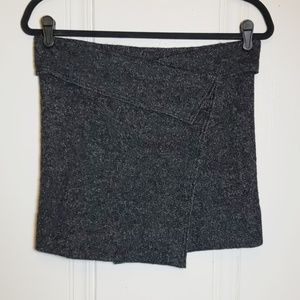 Isabel Marant Skirts - Isabel Marant Etoile Gray Wool Blend Wrap Skirt